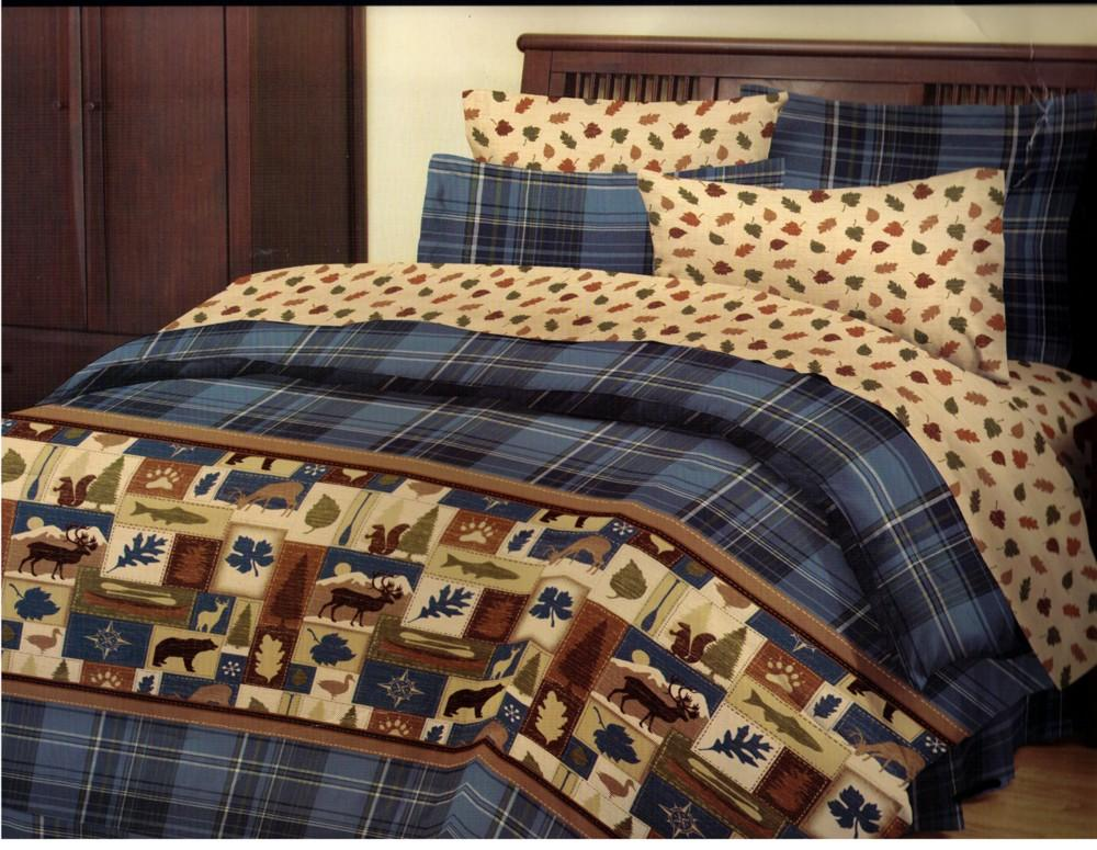 Image of: Moose Comforter Sets Pattern