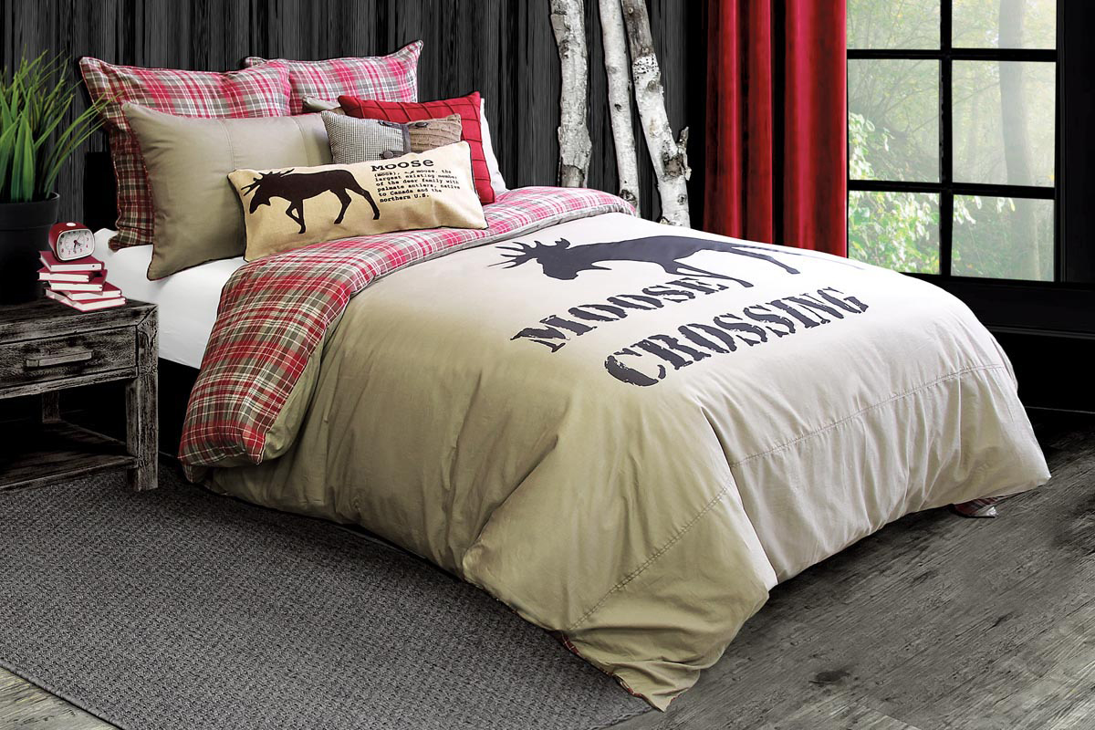 Image of: Moose Comforter Sets Printing