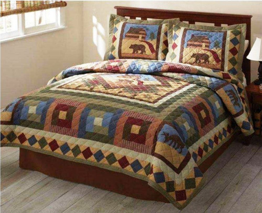 Image of: Moose Comforter Sets Rustic