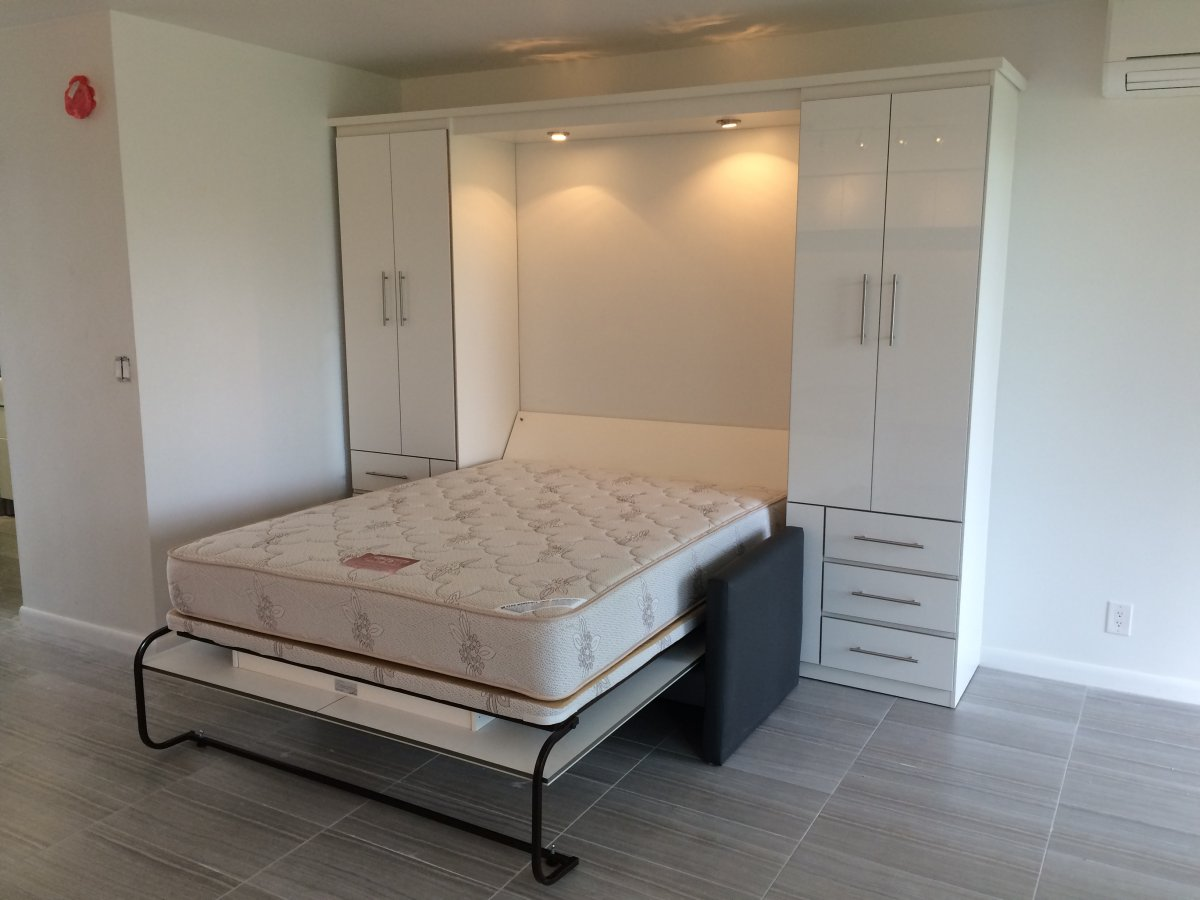 Image of: Murphy Bed With Storage Apartment