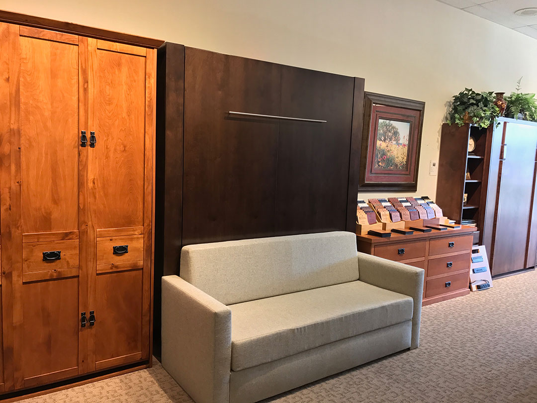 Image of: Murphy Bed With Storage Interior
