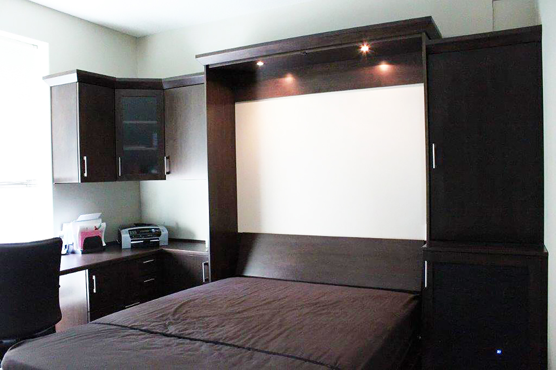 Murphy Bed With Storage Mounted