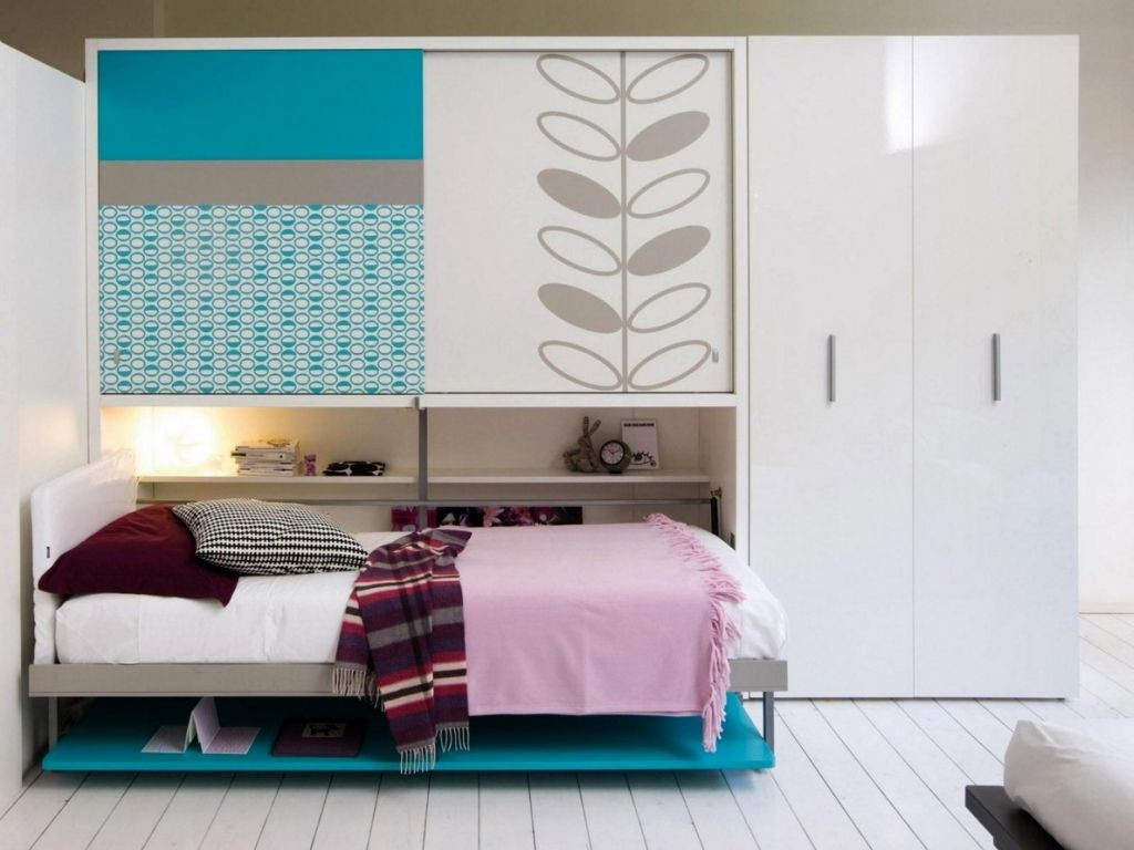 Image of: Murphy Bed With Storage Space