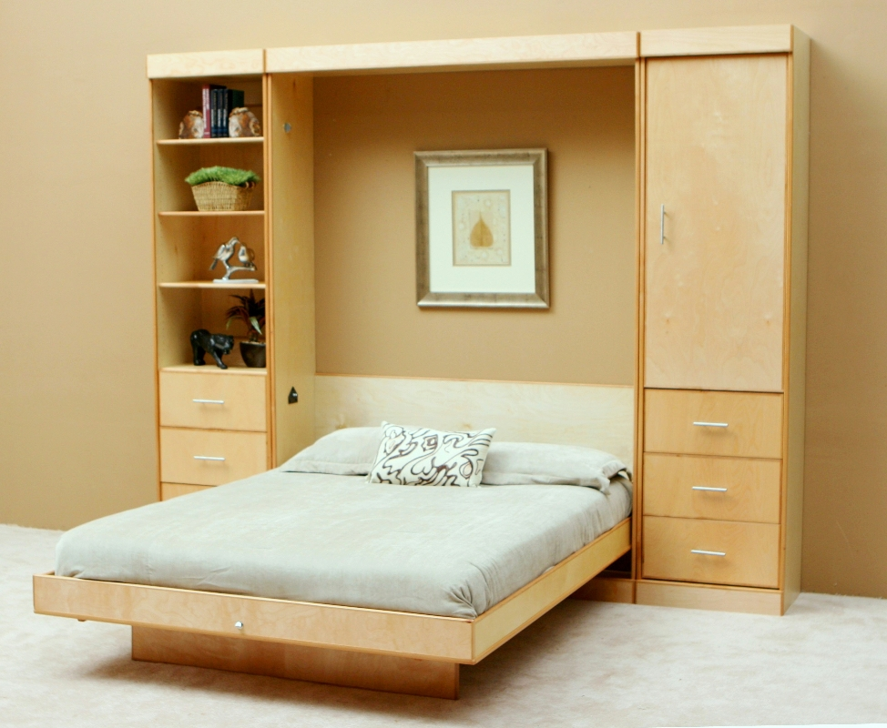 Image of: Murphy Bed With Storage Types