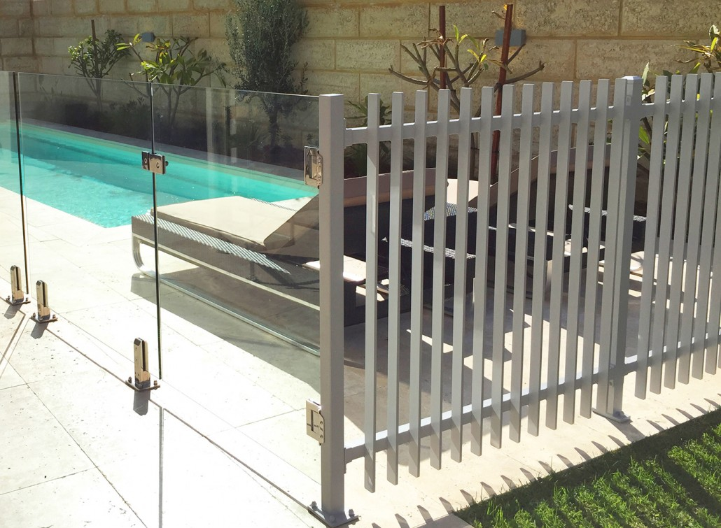 High A Metal Pool Fence