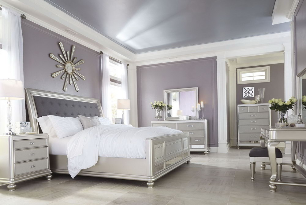 Image of: New Silver Bedroom Set Ideas