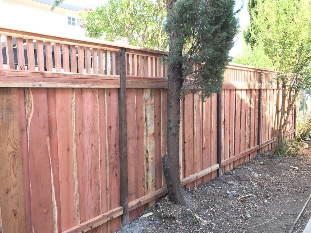 Picture of: New Wood Fence Repair