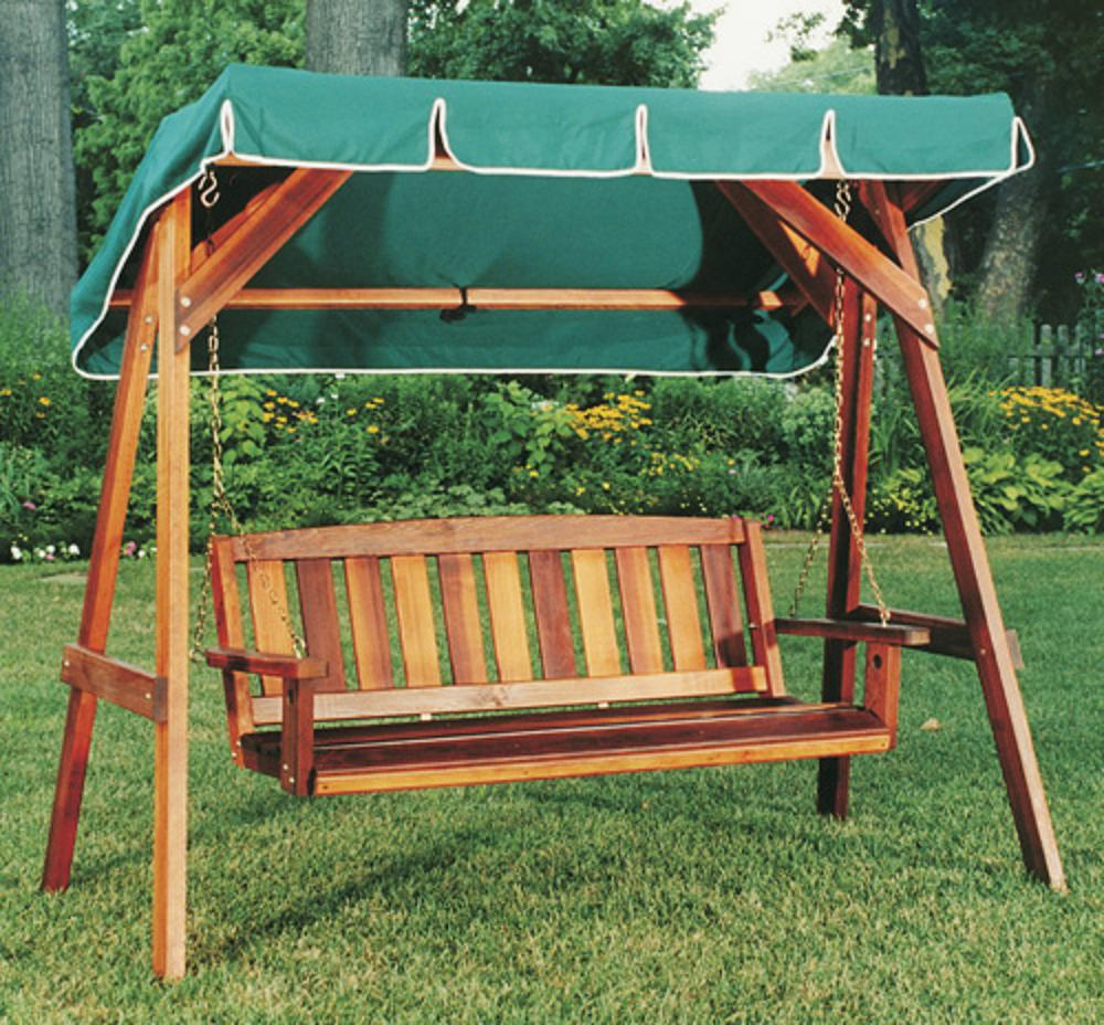 Picture of: New Wooden Bench Swing