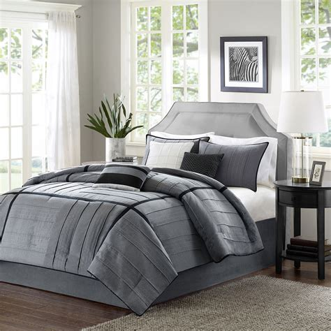 Image of: Nice Grey Comforter Sets King