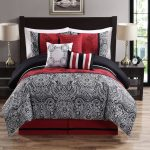 Nice Red and Gray Comforter Sets