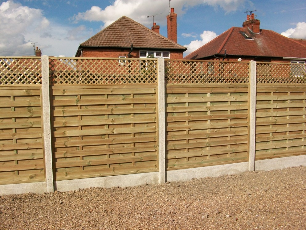 Picture of: Original Horizontal Fence Panels