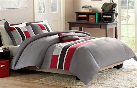 Original Red And Gray Comforter Sets