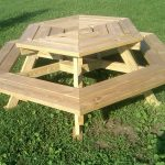 Original Wooden Picnic Bench