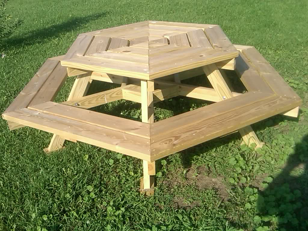 Picture of: Original Wooden Picnic Bench
