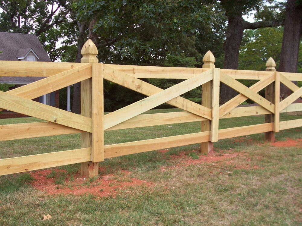 Picture of: Ornament Wood Fence Styles