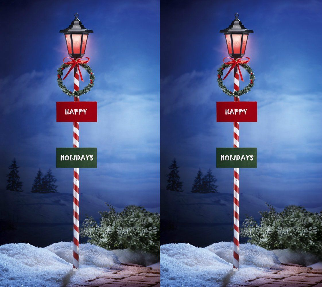 Outdoor Christmas Lamp Post Color
