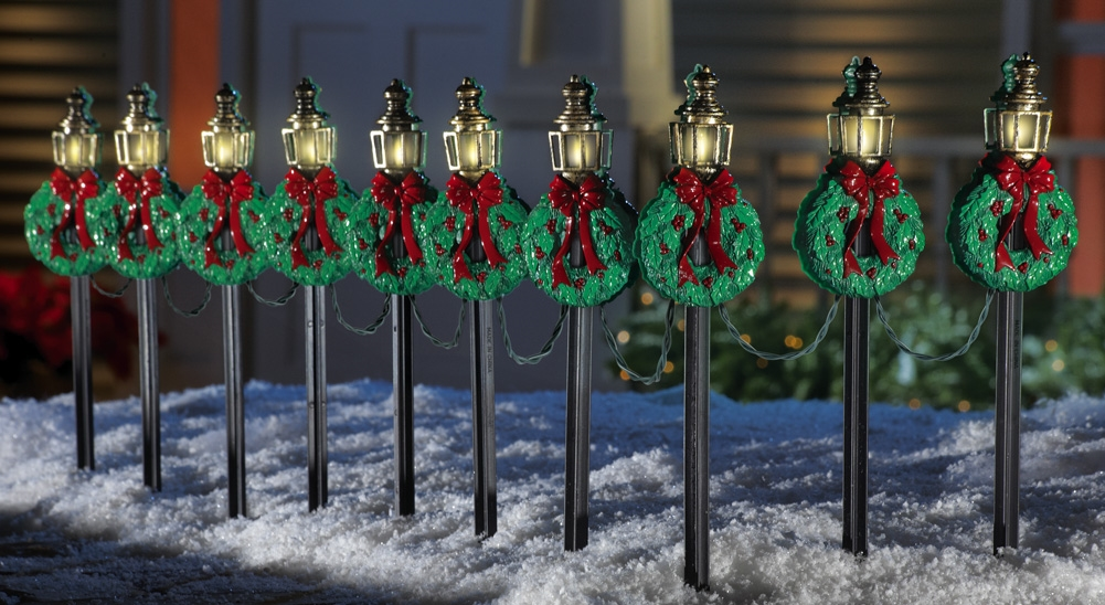 Outdoor Christmas Lamp Post Small