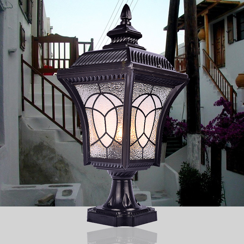 Picture of: Outdoor Column Lights Modern