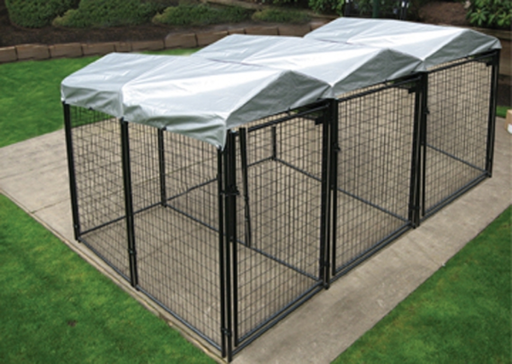 Outdoor Dog Fence Panels With Roof