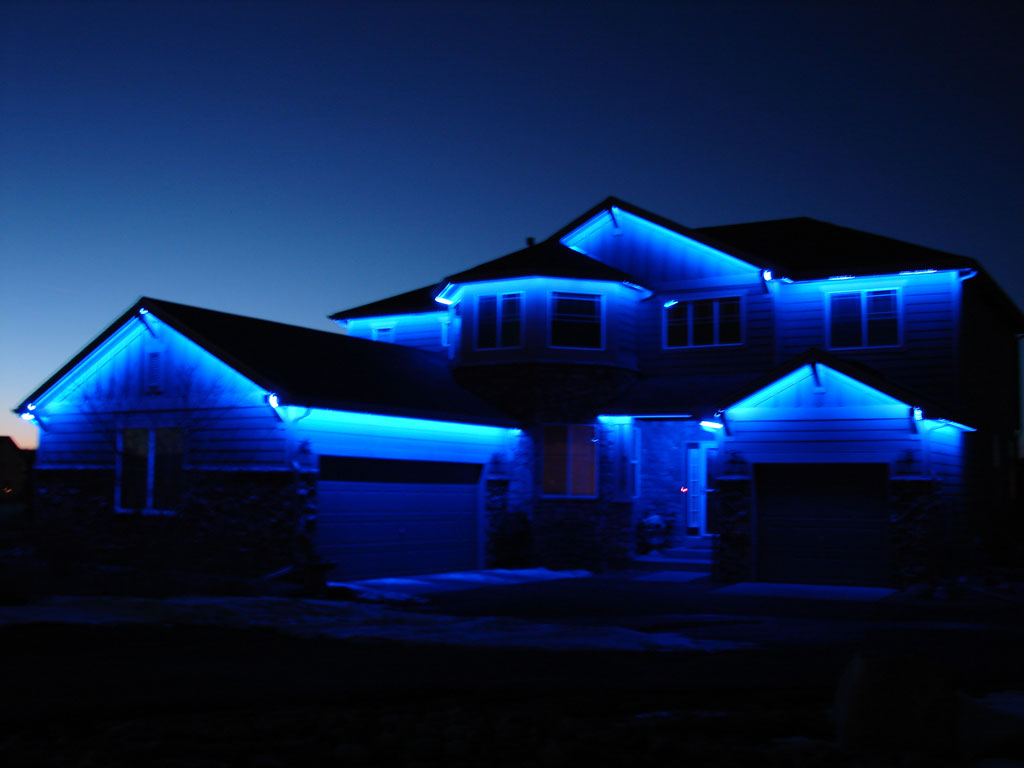 Picture of: Outdoor Laser Lights Blue
