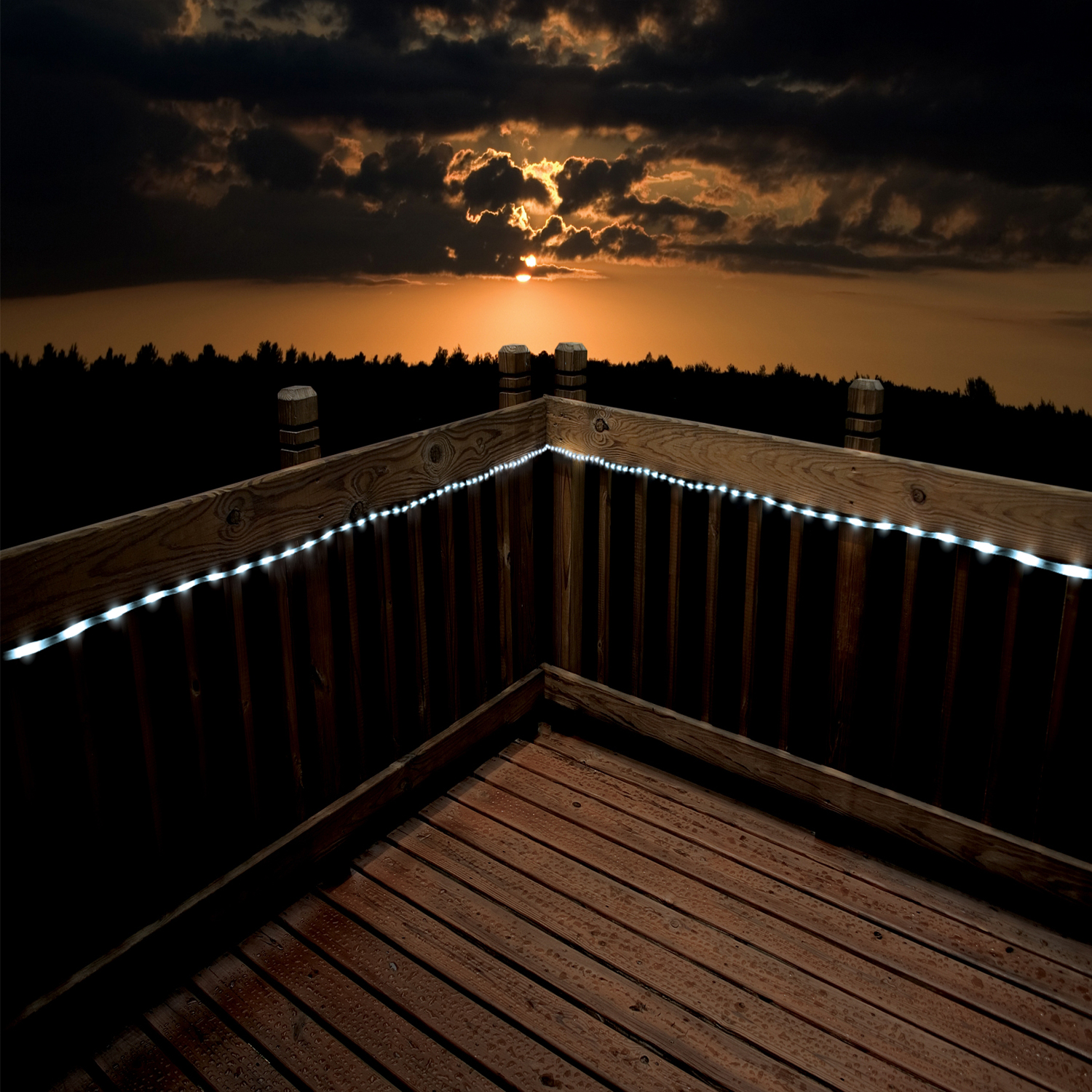 Picture of: Outdoor Led Rope Light Deck