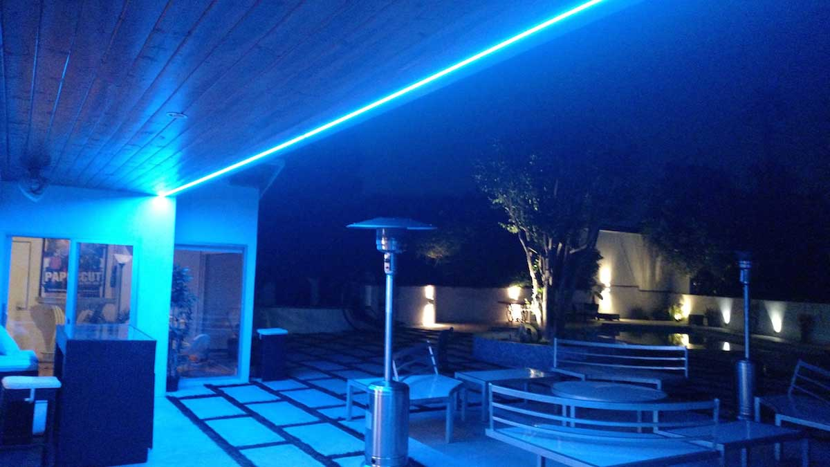 Picture of: Outdoor Led Strip Lighting Blue
