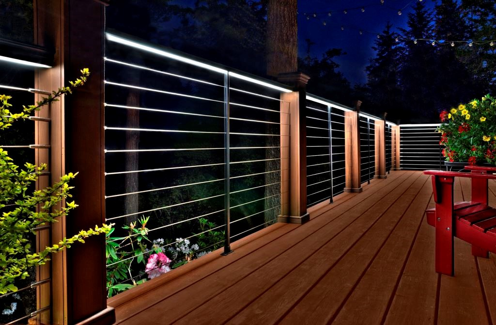 Outdoor Led Strip Lights Railing Deck