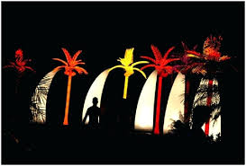 Picture of: Outdoor Lighted Palm Tree for Deck