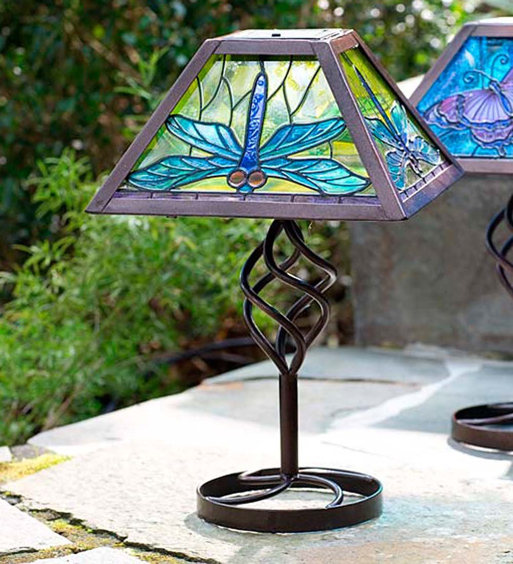 Outdoor Solar Table Lamp Tiffany