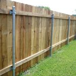 Outdoor Steel Post for Wood Fence