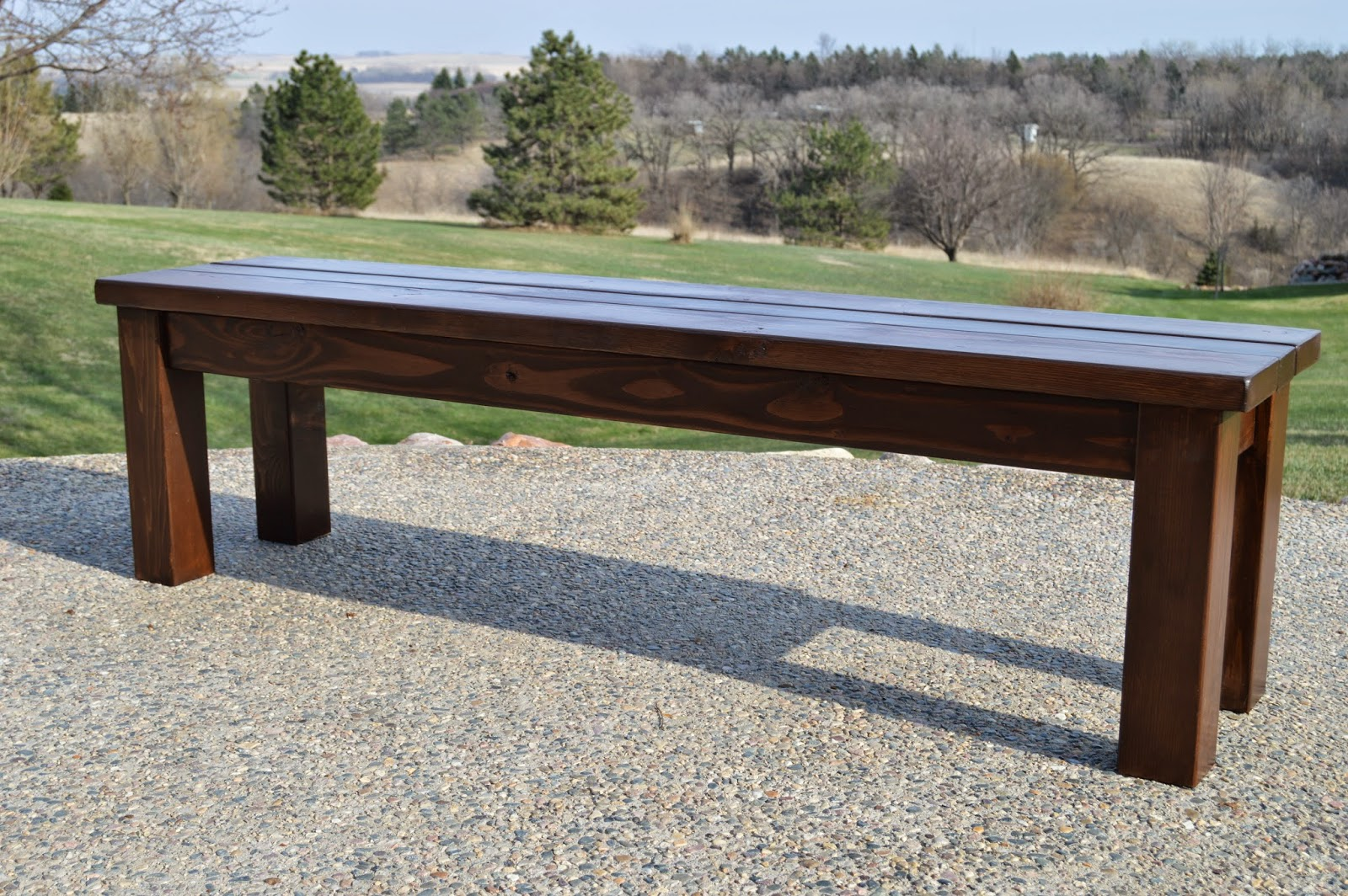 Outdoor Wooden Bench Box Seat