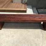 Outdoor Wooden Bench No Back