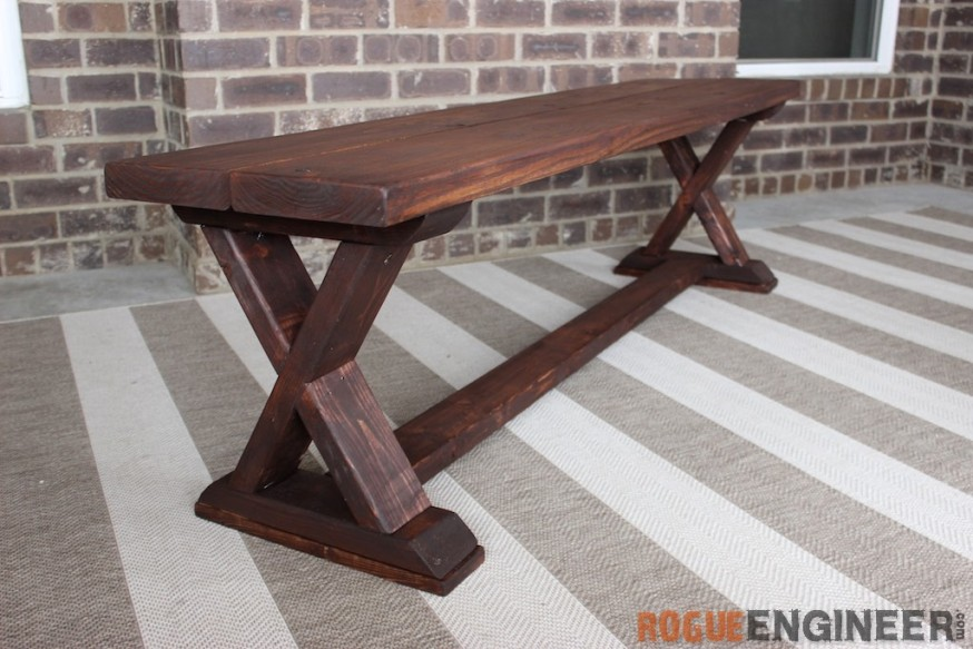 Outdoor Wooden Bench And Table Set