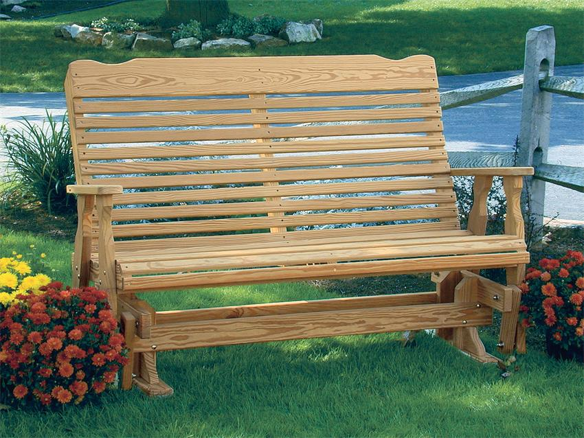 Picture of: Outdoor Wooden Glider Bench