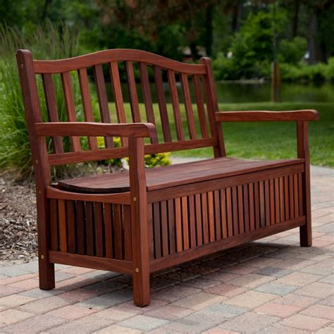 Picture of: Outdoor Wooden Storage Bench