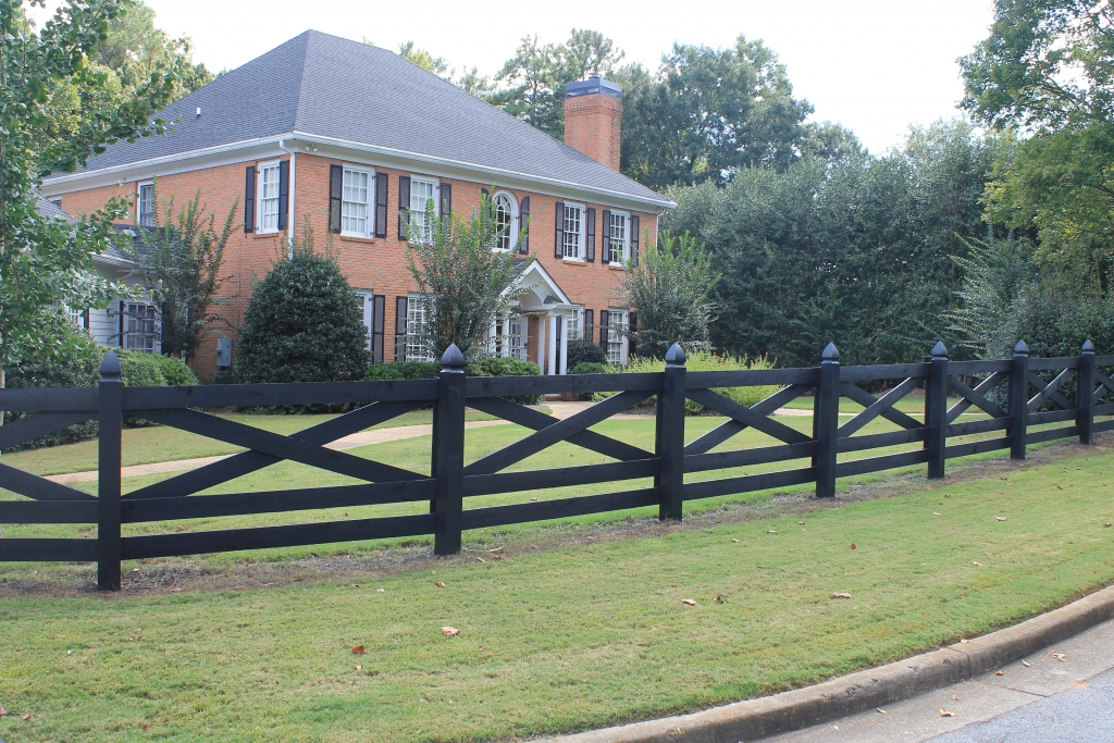 Perfect Black Wood Fence