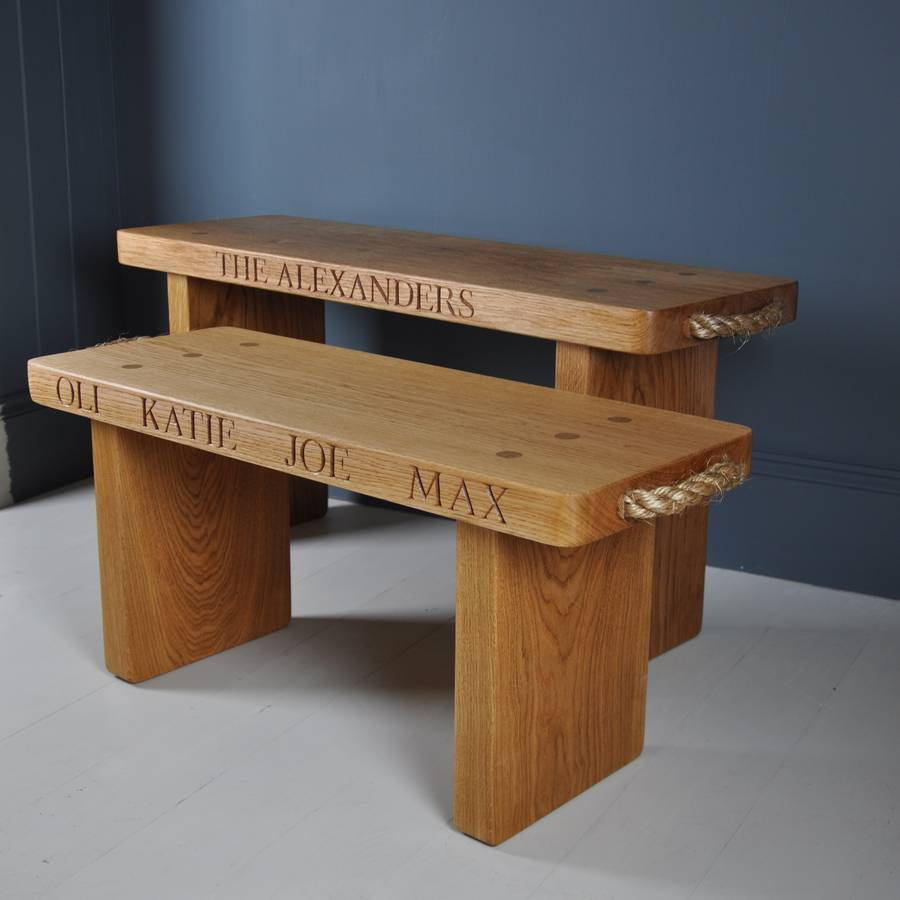 Picture of: Personalized Small Wooden Bench
