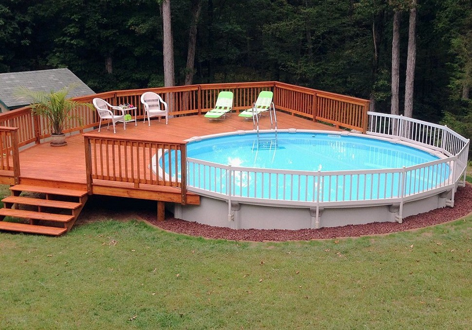 Picture Above Ground Pool Fence Ideas