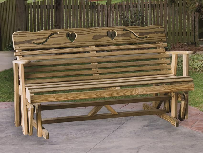 Picture of: Pine Wooden Glider Bench