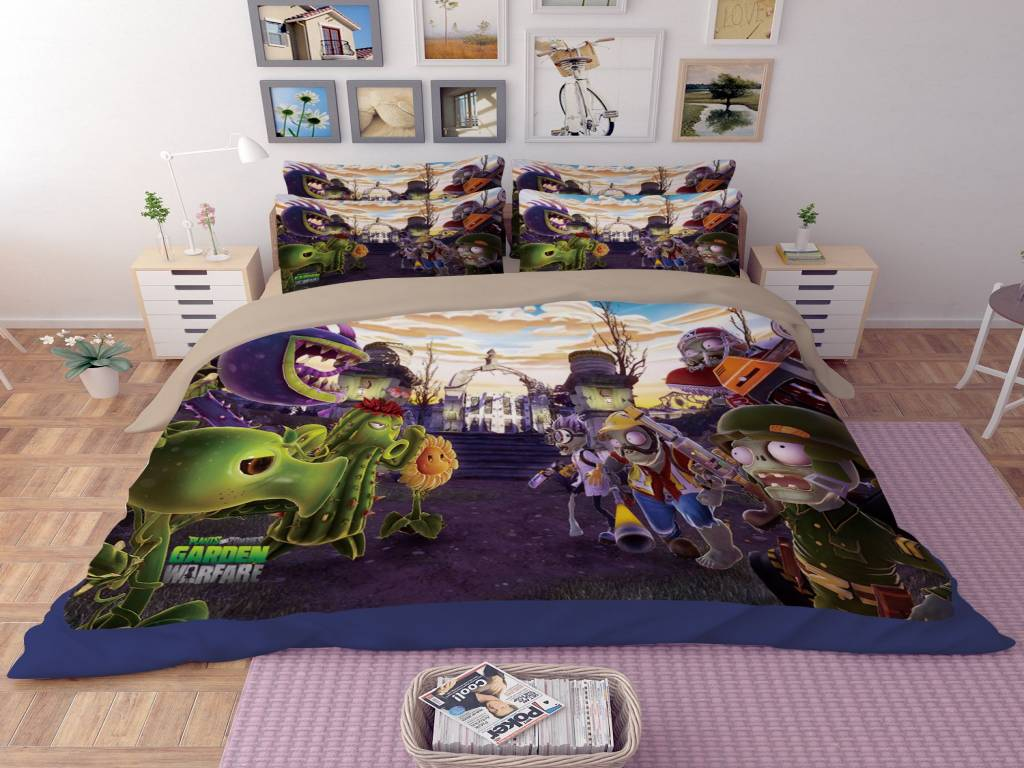 Image of: Plant Skull Bedding Sets Queen