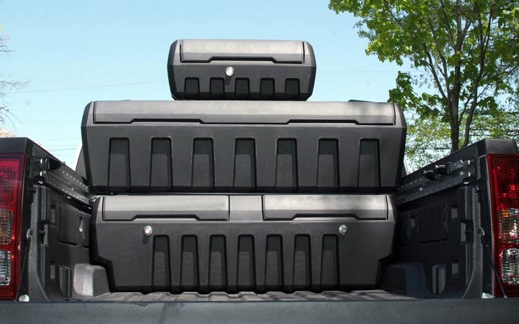 Image of: Plastic Truck Bed Storage Containers