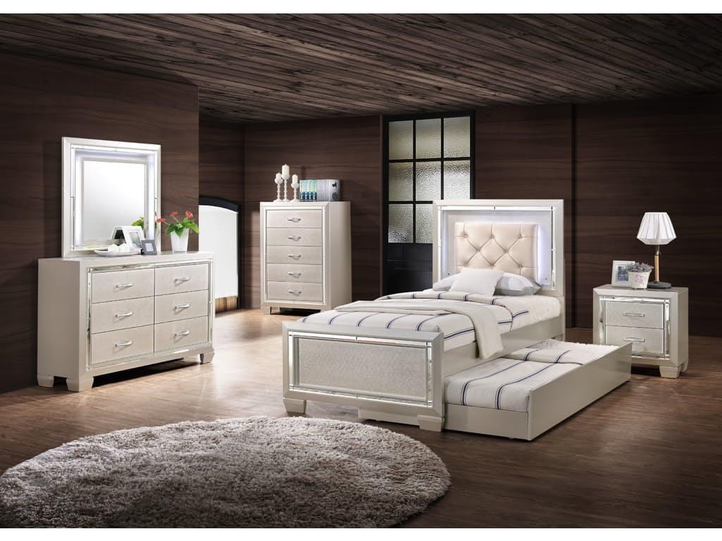 Picture of: Platinum Bedroom Set and Cabinet