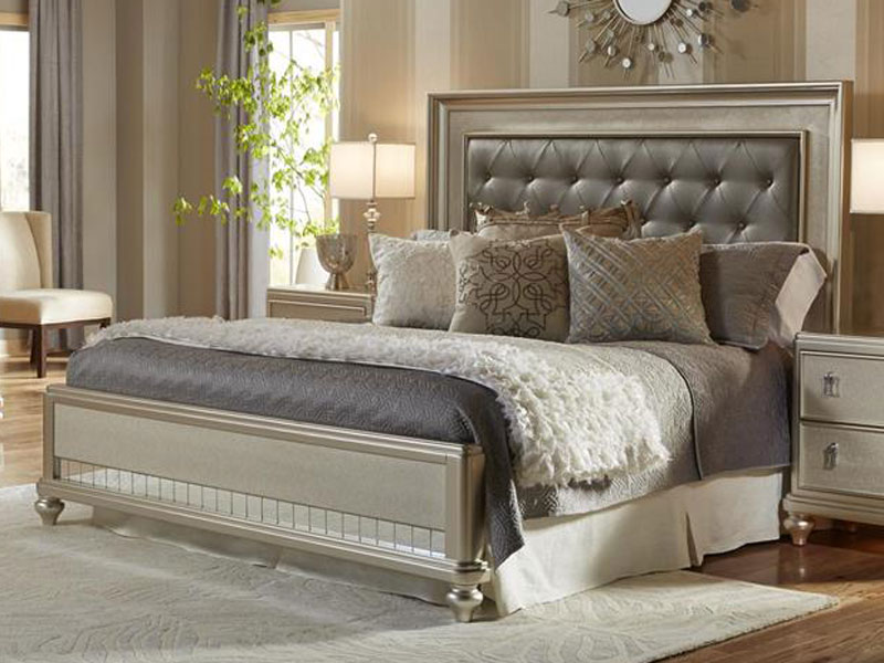 Picture of: Platinum Bedroom Set and Rugs