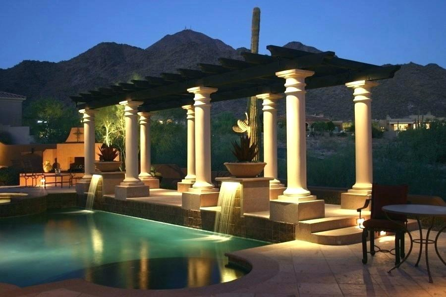 Picture of: Pool Outdoor Column Lights