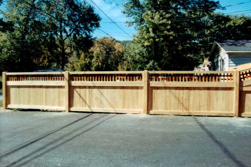 Picture of: Pre Made Fence Panels Brown