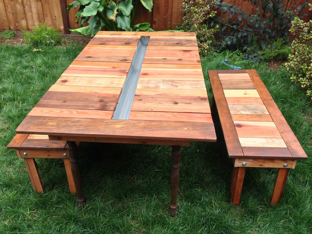 Picture of: Pretty Wooden Picnic Bench