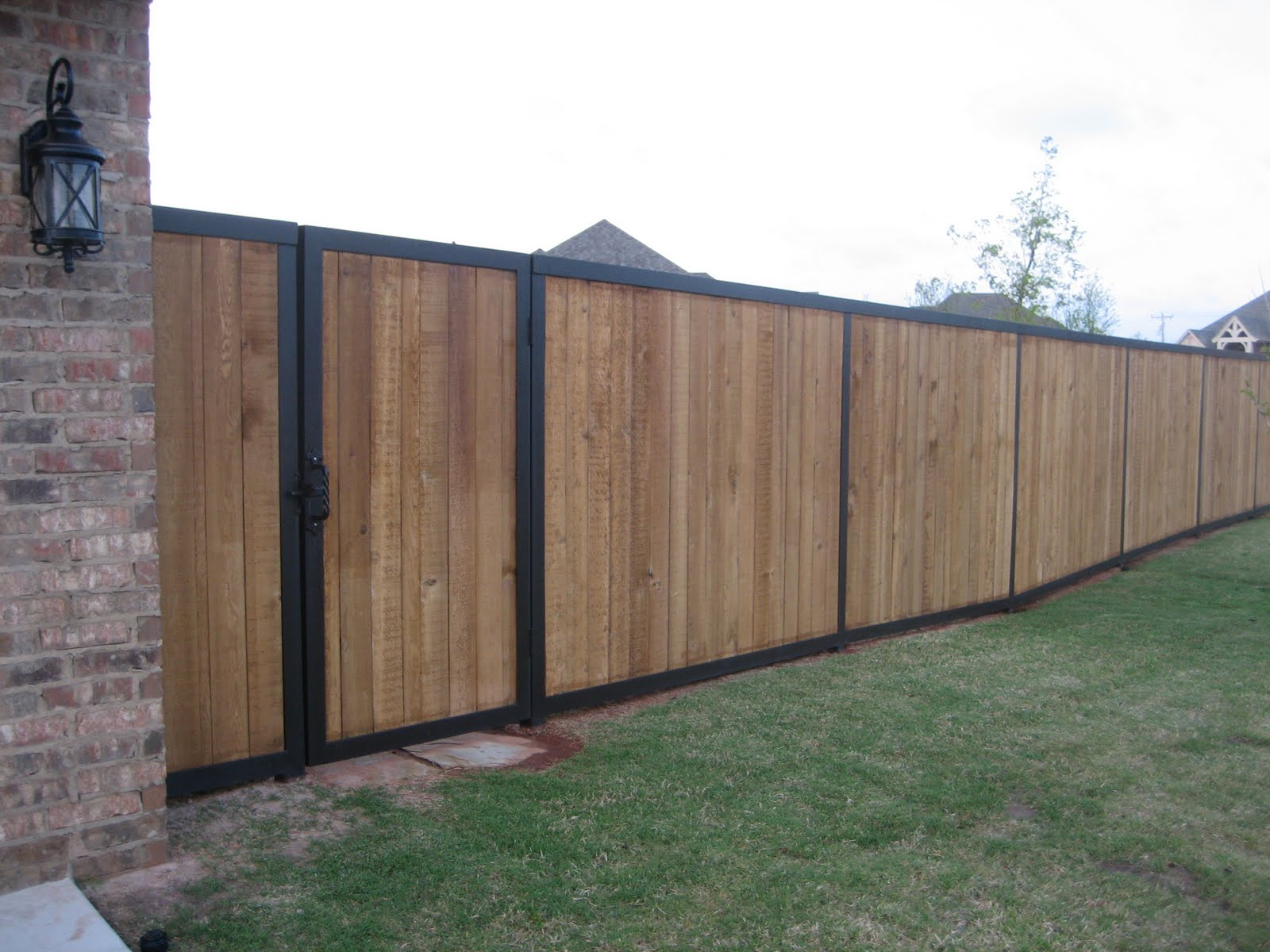 Picture of: Privacy Wood and Metal Fence