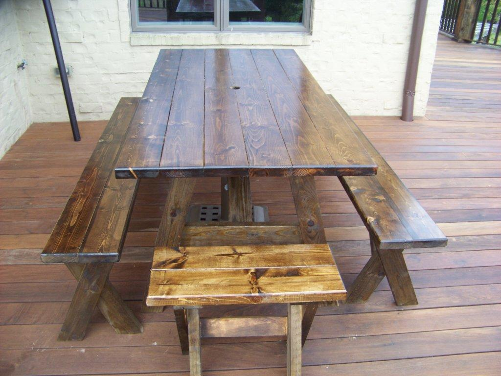 Picture of: Reclaimed Wooden Picnic Bench