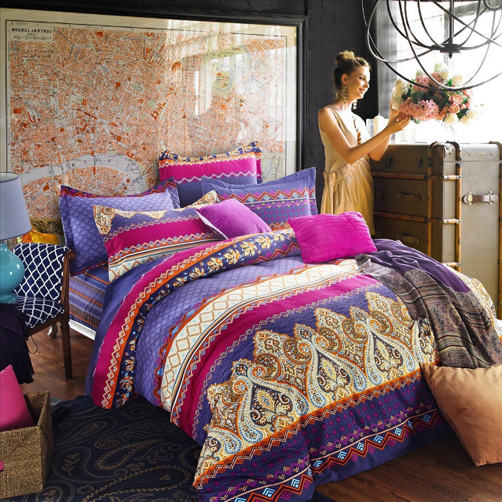 Image of: Retro Bohemian Comforter Sets