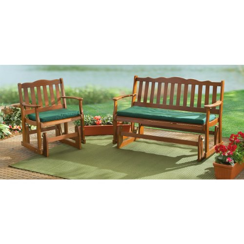 Picture of: Review Wooden Glider Bench